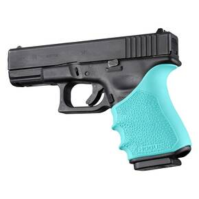 Hogue HandAll Beavertail Grip Sleeve Glock 19, 23, 32, 38 Gen 3-4 Aqua