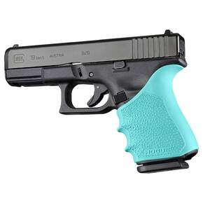 Hogue HandAll Beavertail Grip Sleeve Glock 19, 23, 32, 38 Gen 1-2-5 Aqua