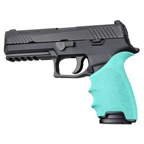 Hogue HandAll Beavertail Grip Sleeve Sig Sauer P320 Aqua