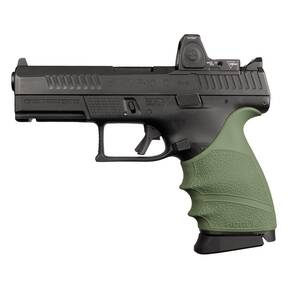 Hogue HandAll Beavertail Grip Sleeve CZ P-10 Compact 9mm - OD Green