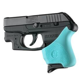 Hogue Handall Hybrid Ruger LCP Crimson Trace Button Grip Sleeve Aqua