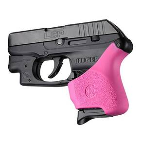 Hogue Grips Handall Universal Grip Sleeve Ruger LCP - Pink with Crisman Trace Button