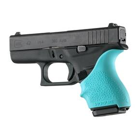 Hogue HandAll Beavertail Grip Sleeve for Glock 42, 43-Aqua