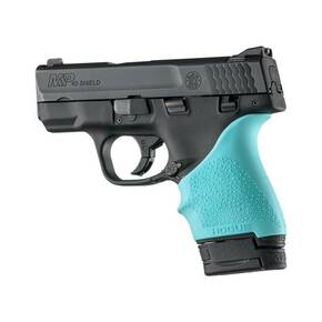 Hogue HandAll Beavertail Grip Sleeve S&W M&P Shield, Ruger LC9-Aqua