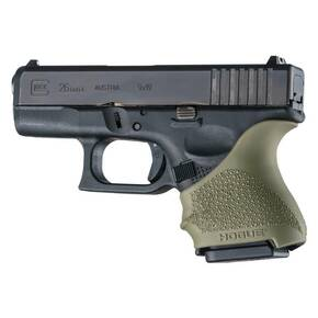 Hogue HandAll Beavertail Grip Sleeve Glock 26/27-OD Green