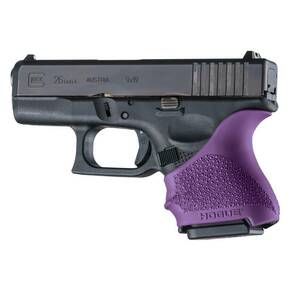 Hogue HandAll Beavertail Grip Sleeve Glock 26/27-Purple
