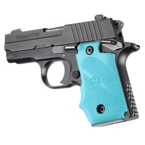 Hogue Rubber Grip with Finger Grooves for SIG Sauer P238 - Aqua
