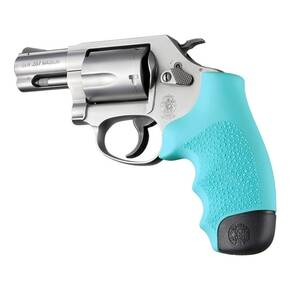 Hogue Rubber Monogrip for S&W J Frame - Aqua