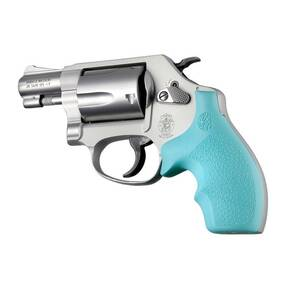 Hogue Rubber Bantam Style Grip for S&W J Frame Round Butt - Aqua