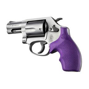 Hogue Bantam Style Grip for S&W J Frames- Rubber Round Butt Purple