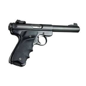 Hogue Ruger MK II / MK III Rubber Grip w/Left Hand Thumb Rest - Black
