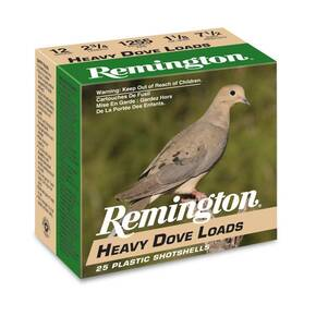 Remington Heavy Dove Loads Shotshell 12ga 2-3/4 in 3-1/4 dr 1-1/8 oz 1255 fps #8 25/ct
