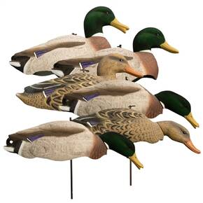 Higdon Outdoors Magnum Full Form Shell Mallard Variety Packk - Flocked Heads