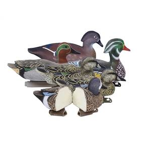 Higdon Outdoors Puddle Pack - 2/ct Green Wing Teal 2/ct Blue Wing Teal 2/ct Wood Ducks