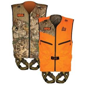 Hunter Safety System Patriot Reversible Harness - L/XL RealTree Xtra/Brushed Tricot Hunter Orange
