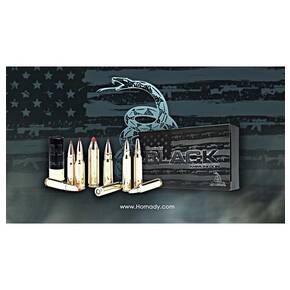 Hornady Black Rifle Ammunition .223 Rem 62 gr FMJ 3100 fps 20/ct