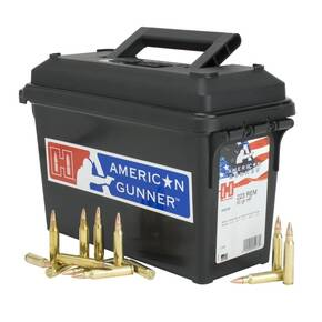 Hornady American Gunner Rifle Ammunition .223 Rem 55 gr HP-Match 3240 fps 247/ct