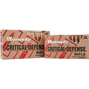 Hornady Critical Defense Rifle Ammunition .308 Win 155 gr FTX 20/ct