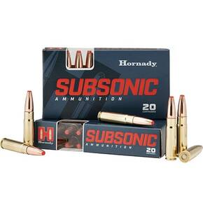 Horndy Subsonic Ammunition .300 BLACKOUT 190 gr SUB-X 1050 fps 20/ct