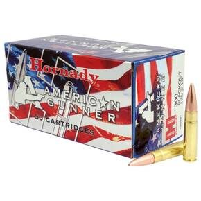 Hornady American Gunner Bulk Rifle Ammuntiton .300 AAC Blackout 125 gr HP 50/ct