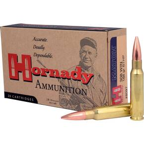 Hornady Match Rifle Ammunition .308 Win 168 gr BTHP MATCH 50 rd
