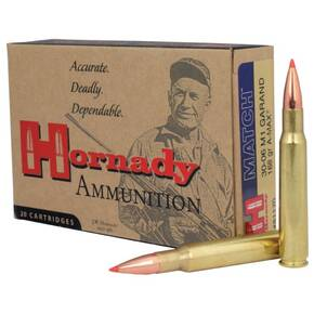 Hornady Vintage Match Rifle Ammunition .30-06 Sprg 168 gr ELD 2710 fps 20/ct