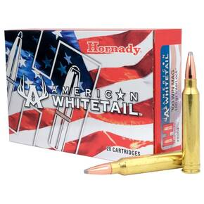 Hornady American Whitetail Rifle Ammunition .300 Win 150 gr SP 2979 fps 20/ct
