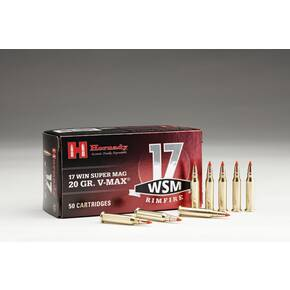 Hornaday Varmint Express Rimfire Ammunition .17 WSM 20 gr VMAX 3000 fps  50/box