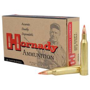 Hornady Varmint Express Rifle  Ammunition .220 Swift 55 gr V-MAX 3253 fps - 20/box