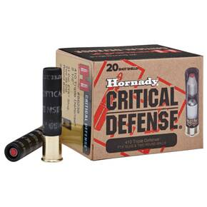 "Hornady 410 Critical Defense Shotgun Ammunition - .410 ga -  2 1/2"" -  1 slug, 2 balls Slug - #000 - 750 fps - 20/box"