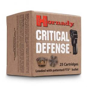 Hornady Critical Defense Ammunition .327 Fed Mag 80 gr FTX 25/ct