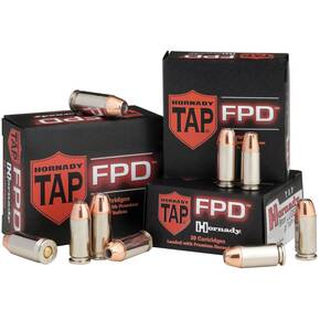 Hornady TAP FPD Handgun Ammunition 9mm +P 124gr TAP 25/ct