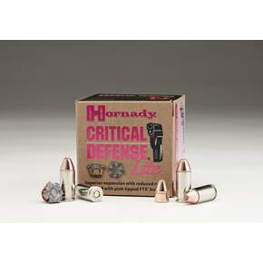 Hornady Critical Defense Lite Handgun Ammunition 9mm Luger 100 gr FTX 1125 fps 25/box