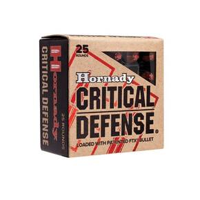 Hornady Critical Defense Handgun Ammo .38 Spl 110 gr FTX 1010 fps 25/box
