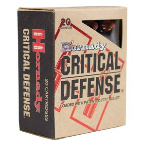 Hornady Critical Defense Handgun Ammo .45 ACP 185 gr FTX 1000 fps 20/box