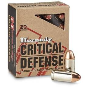 Hornady Critical Defense Handgun Ammo .40 S&W 165 gr FTX 1175 fps 20/box