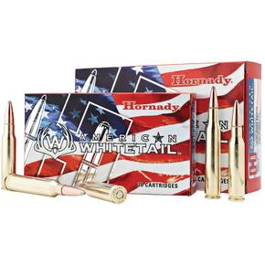 Hornady American Whitetail Rifle Ammunition 6.5 Creedmoor 129 gr SP 2820 fps 20/ct
