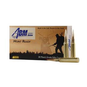 ABM Hunt Ready Berger Rifle Ammunition .308 WIN 185 gr OTM 2532 fps 20/ct