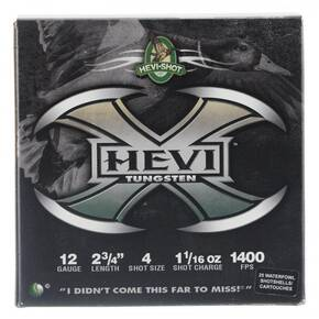 HEVI-Shot HEVI-X Shotshells 12ga 2-3/4 1-1/16 oz 1400 fps #4 25/ct