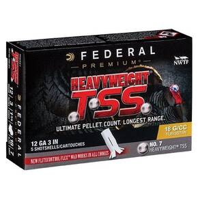 "Federal Heavyweight TSS 12ga 3"" 1-3/4oz 1200 fps #9 5/ct"
