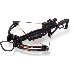 Bear Archery Fortus Crossbow Package Trophy Ridge XF425 Scope & Rope Cocker - Black