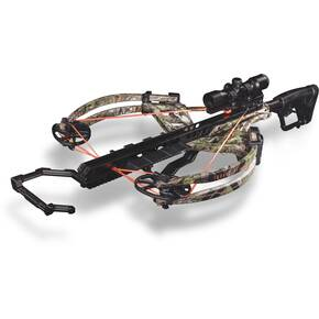 Bear Archery Torrix Crossbow Package with Trophy Ridge 3X Multi-Reticle XF325 Scope & Cocking Sled - Camo