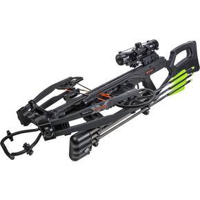 Bear Archery BearX Intense CD Crossbow Package with Scope Rope & Arrows RH/LH - Black