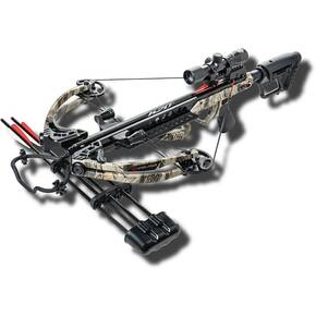 Karnage Apocalypse Crossbow Package with 4x32 Multi Cross-Hair Reticle/Focusing Eyepiece - Camo/Black