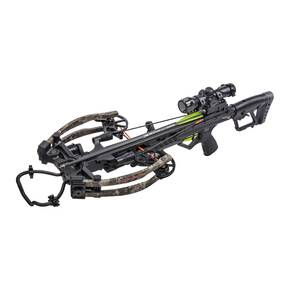 Bear Archery BearX Constrictor CDX Crossbow Package with Illum Scope Rope & Bolts RH / LH - Veil Stroke Camo