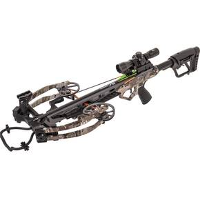 Bear Archery BearX Constrictor Crossbow Package with Illum Scope Rope & Bolts RH / LH - Veil Stroke Camo