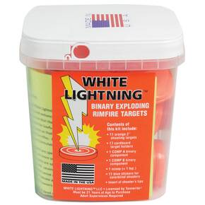 Tannerite White Lightning Rimfire Target Kit  15/kit-6 kits/case