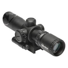 Firefield Barrage Riflescope with Red Laser -  1.5-5x32 Illuminated Mil-Dot Reticle Black Matte