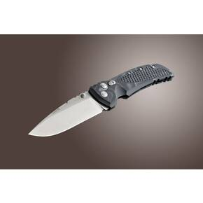 "Hogue G10 Frame Folding Knife - 4"" Drop Point Blade Tumble Finish G-Mascus Black"