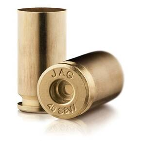 Jagemann Unprimed Brass Handgun Cartridge Cases .40 S&W 500/ct Bag